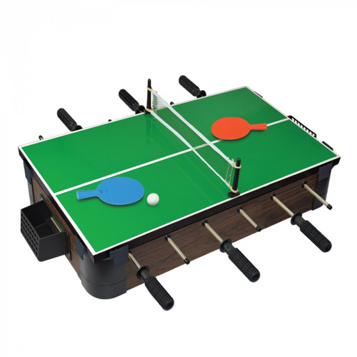 Joc de birou 5 in 1 din lemn V3 - foosball ping-pong sah dame table 1 1