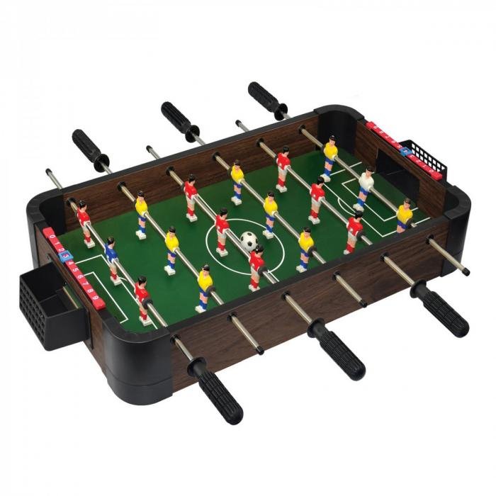 Joc de birou 5 in 1 din lemn V3 - foosball ping-pong sah dame table 1 0