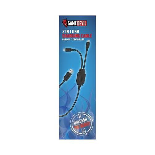 Cablu Game Devil 2 In 1 Usb Charging Cable Ps4 0