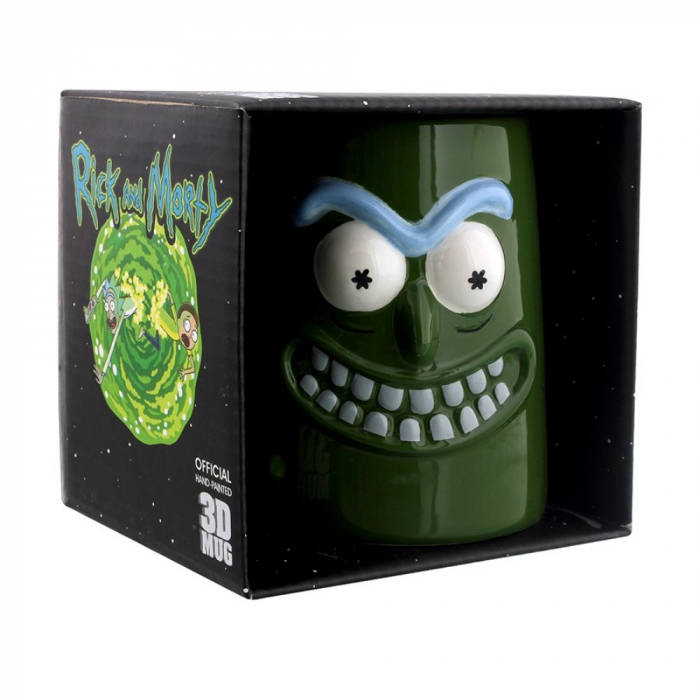 Cana 3D, Rick and Morty, Pickle Rick, 400 ml 2