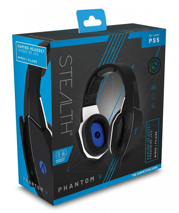 Casti Gaming Stealth Phantom V, Stereo, PS5, Negru 0