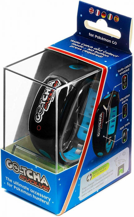 Ceas Pokemon Go Go-Tcha Evolve Led Auto Catch And Auto Spin Black Blue 1