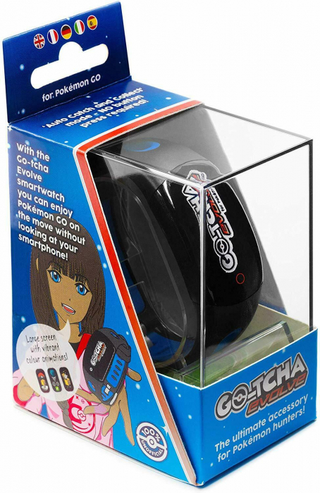 Ceas Pokemon Go Go-Tcha Evolve Led Auto Catch And Auto Spin Black Blue 2
