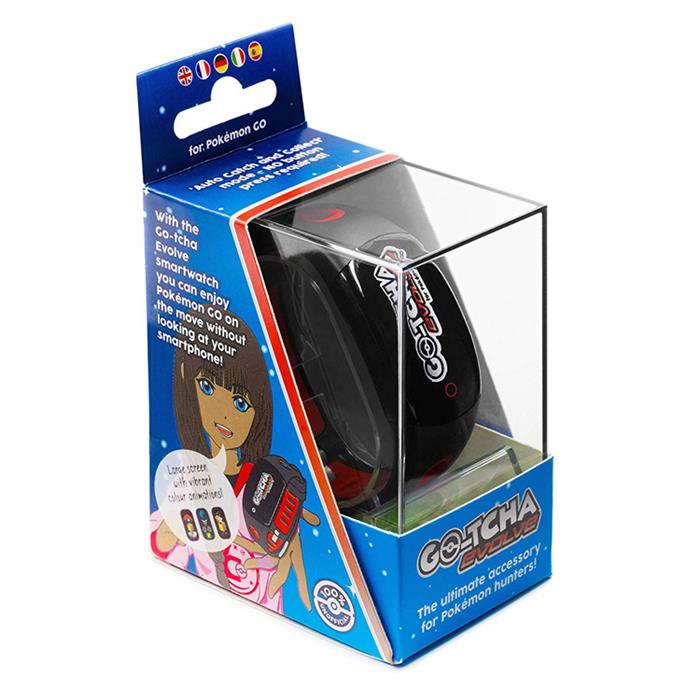 Ceas Pokemon Go Go-Tcha Evolve Led Auto Catch And Auto Spin Black Red 2