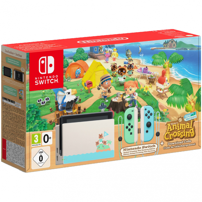 Consola NINTENDO SWITCH (WITH PASTEL GREEN & BLUE JOY-CONS) + Animal Crossing: New Horizons 0