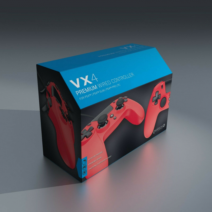 Controller Gioteck Vx-4 Wired Red Ps4 4