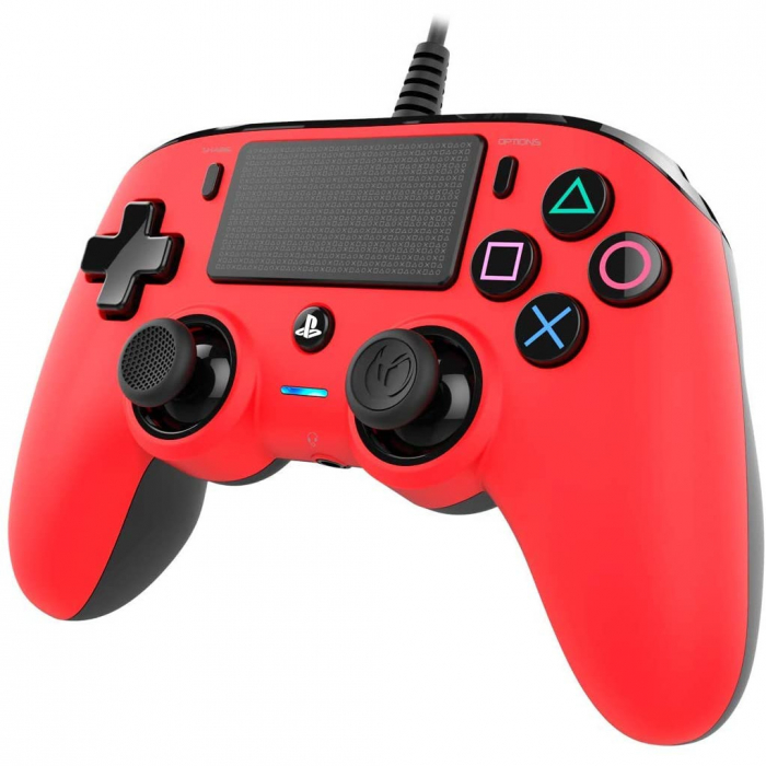 Controller Nacon Wired Compact Color Edition Red Ps4 5