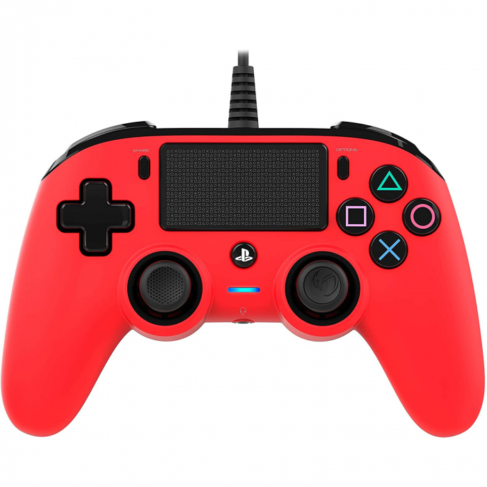 Controller Nacon Wired Compact Color Edition Red Ps4 0