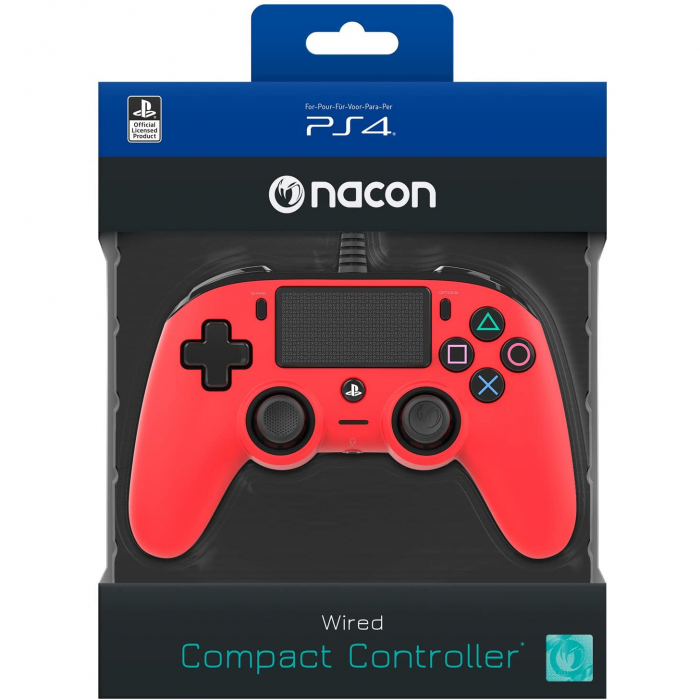 Controller Nacon Wired Compact Color Edition Red Ps4 2