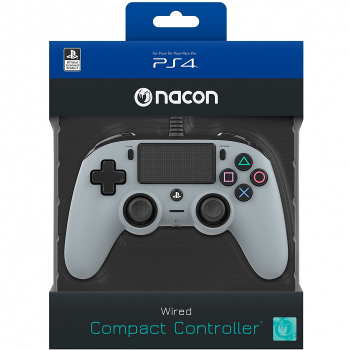 Controller Nacon Wired Compact Color Edition Silver Ps4 2