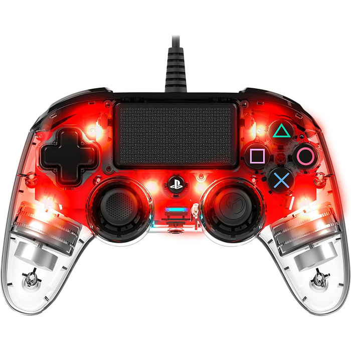 Controller Nacon Wired Illuminated Compact Light Edition Red Ps4 5