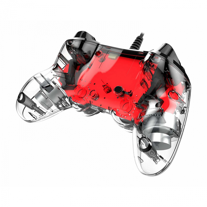 Controller Nacon Wired Illuminated Compact Light Edition Red Ps4 3