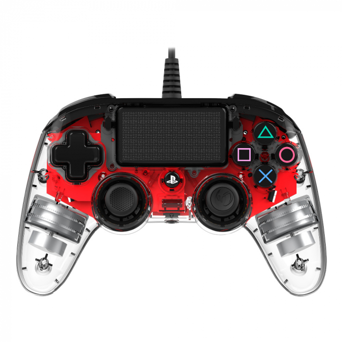 Controller Nacon Wired Illuminated Compact Light Edition Red Ps4 0