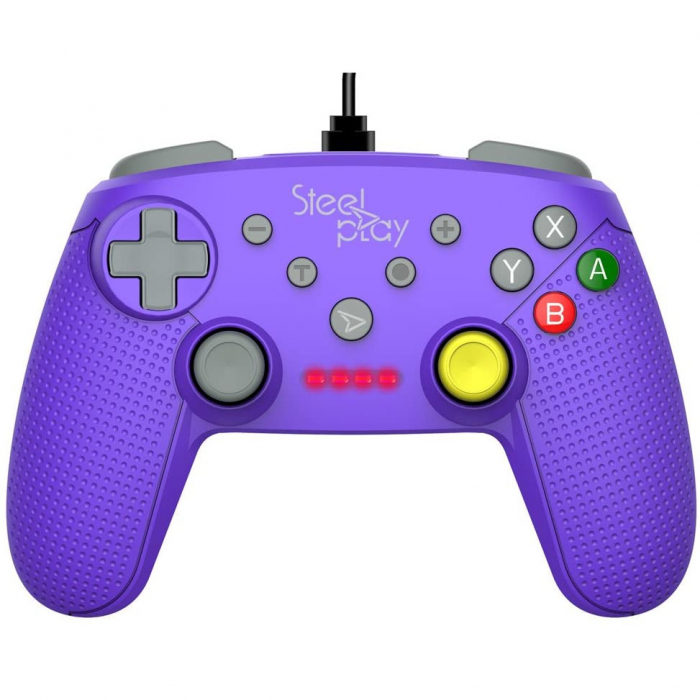 Controller Steelplay Wired Gcube Purple Nintendo Switch 2