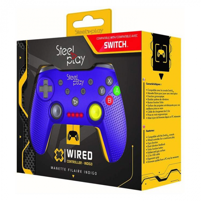 Controller Steelplay Wired Gcube Purple Nintendo Switch 0
