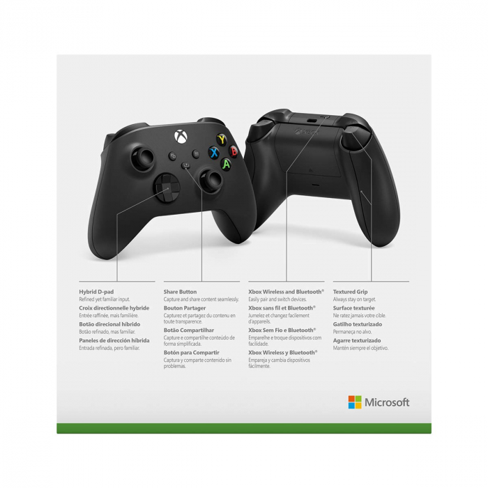 Controller Xbox One, X series, PC, Wireless, Negru Carbon 2