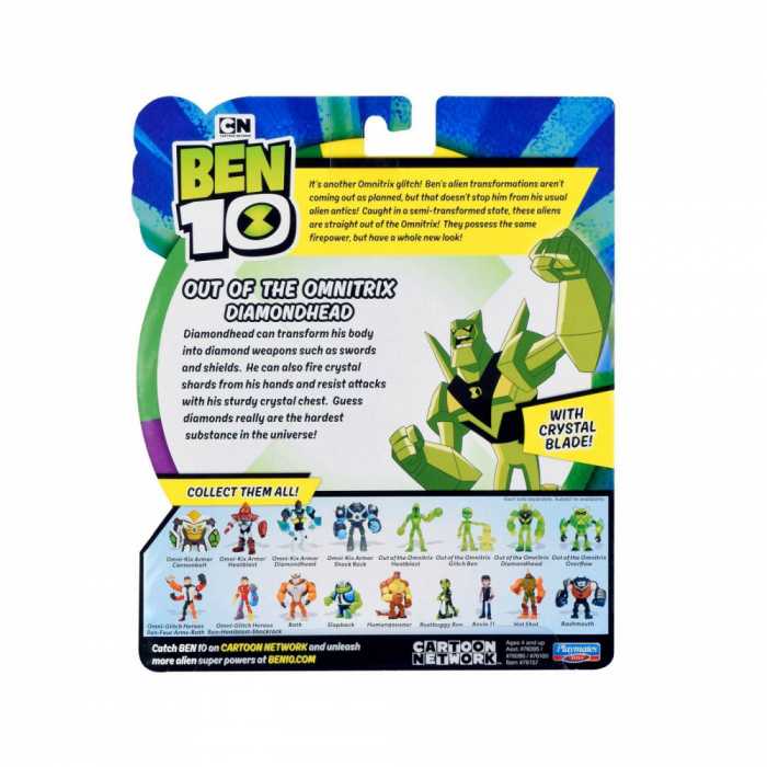 Figurina Ben 10 - Cap de Diamant Out of the Omnitrix 3