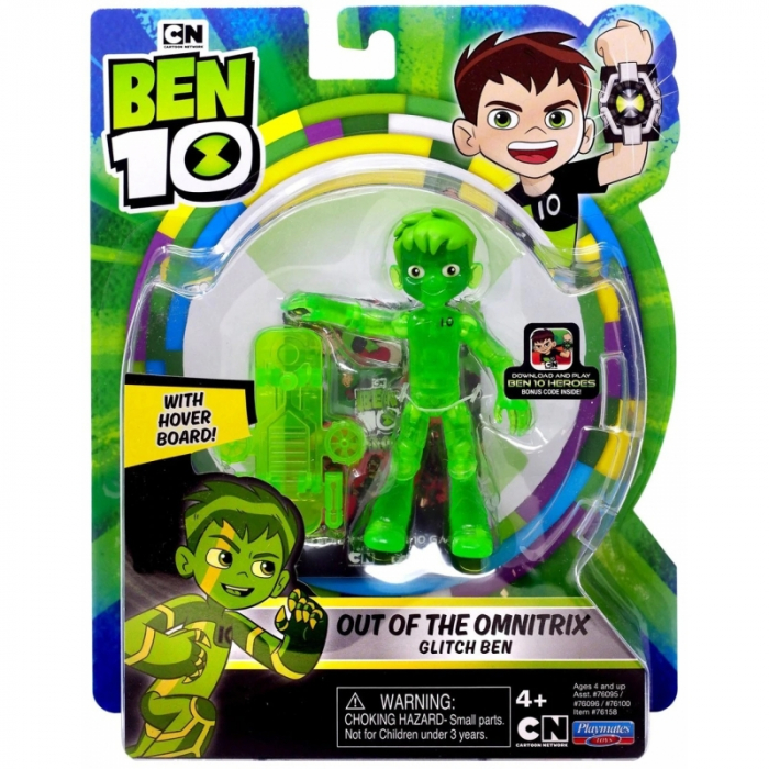 Figurina Ben 10 - Glitch , Out of the Omnitrix 0