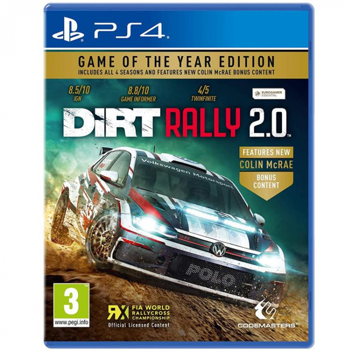 Joc Dirt Rally 2.0 Rally Game Of The Year Edition Ps4 0