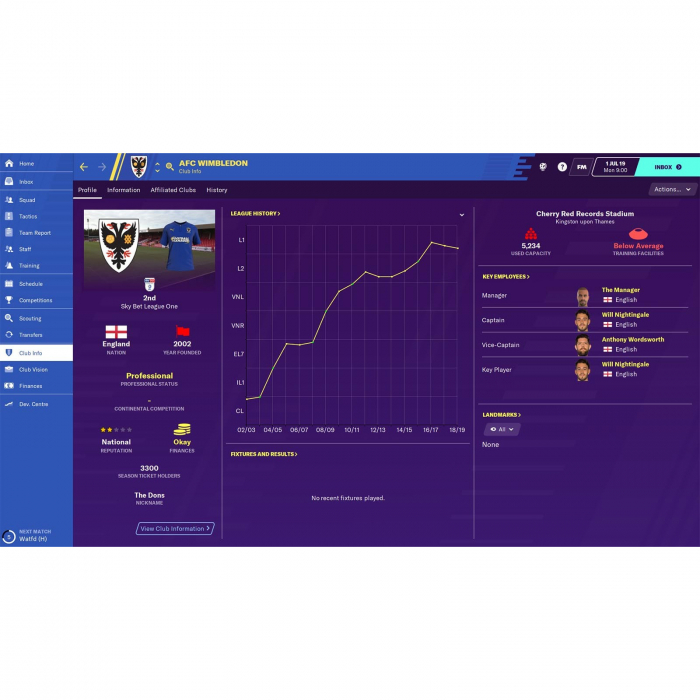 Joc FOOTBALL MANAGER 2020 STEAM KEY Pentru Calculator 6