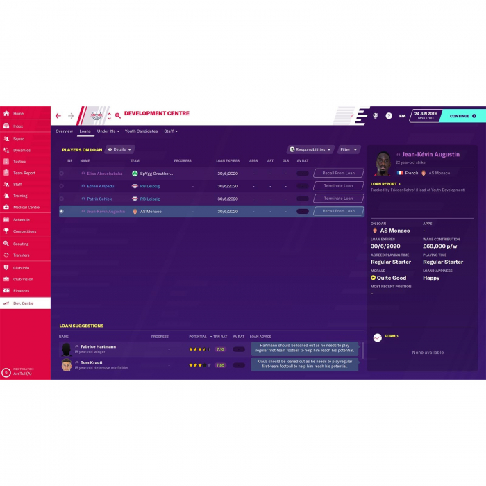 Joc FOOTBALL MANAGER 2020 STEAM KEY Pentru Calculator 2