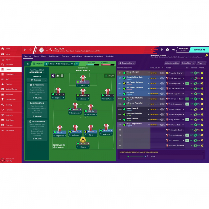 Joc FOOTBALL MANAGER 2020 STEAM KEY Pentru Calculator 1