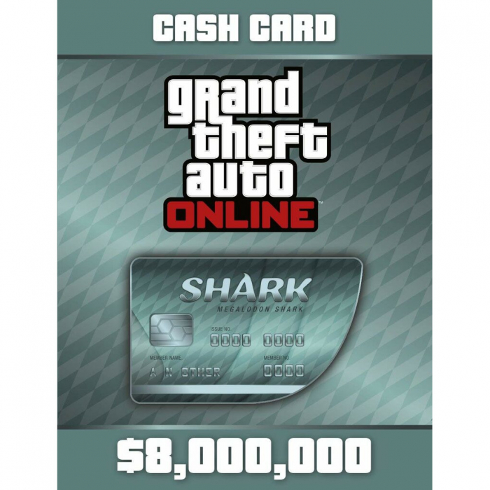 Joc Grand Theft Auto Online Megalodon Shark Cash Card 8 000 000 RockStar Key Pentru Calculator 0