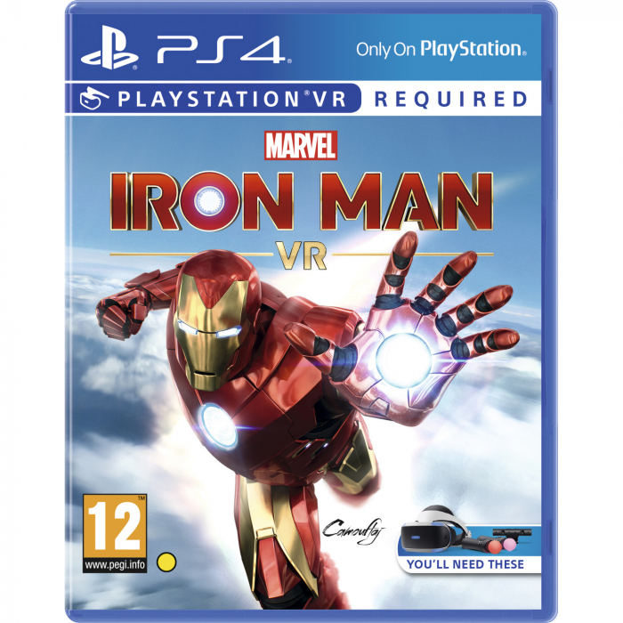 Joc IRON MAN VR pentru PlayStation 4 + PlayStation Move Twin Pack Bundle 1