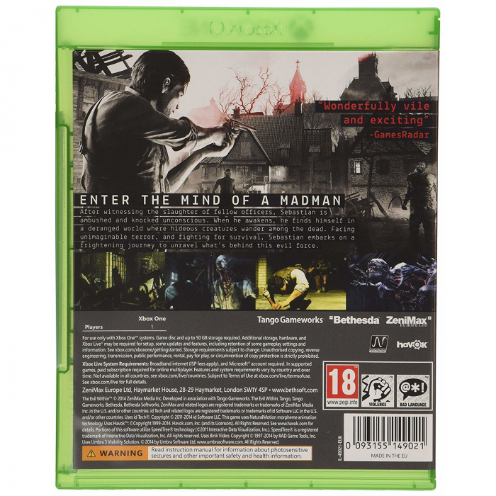 Joc The Evil Within (Includes The Fighting Chance Pack) Pentru Xbox One 1