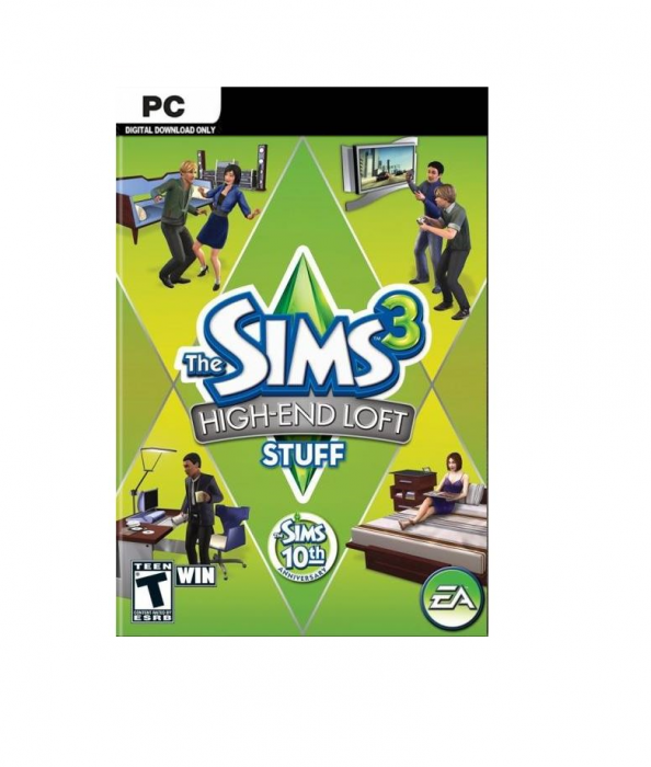Joc The Sims 3 High End Loft Stuff pentru PC, cod de activare Origin 0