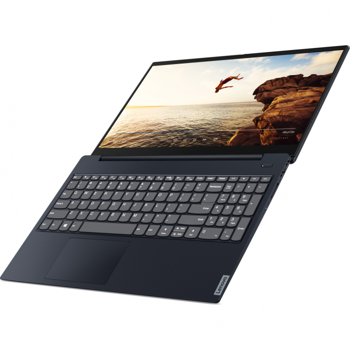 "Laptop Lenovo Ideapad S340-15IIL cu procesor Intel® Core™ i5-1035G1 pana la 3.60 GHz Ice Lake, 15.6"", Full HD, IPS, 8GB, 1TB HDD + 256GB SSD, Intel UHD Graphics, Free DOS, Abyss Blue 15"