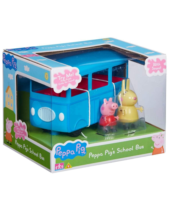 Set figurine Peppa Pig - School bus with Sound 0