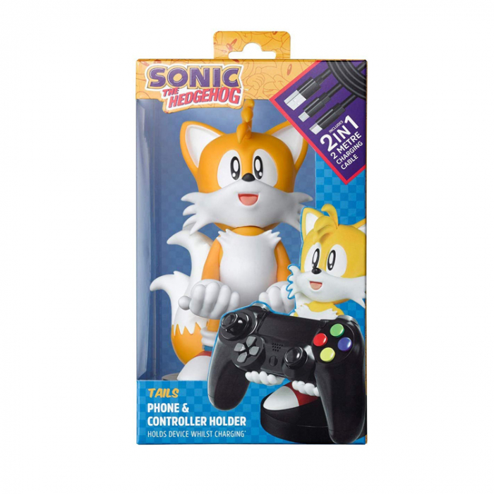 Suport Incarcare Figurina Stand Sonic The Hedgehog Tails Cable Guy pentru Controllere si Telefoane Smartphone 1