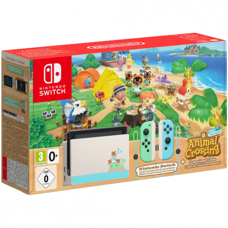 Consola NINTENDO SWITCH (WITH PASTEL GREEN & BLUE JOY-CONS) + Animal Crossing: New Horizons0