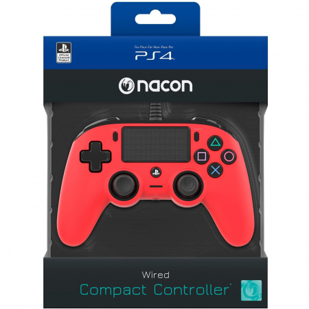 Controller Nacon Wired Compact Color Edition Red Ps42