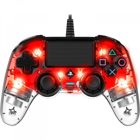 Controller Nacon Wired Illuminated Compact Light Edition Red Ps45