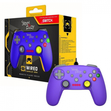 Controller Steelplay Wired Gcube Purple Nintendo Switch1
