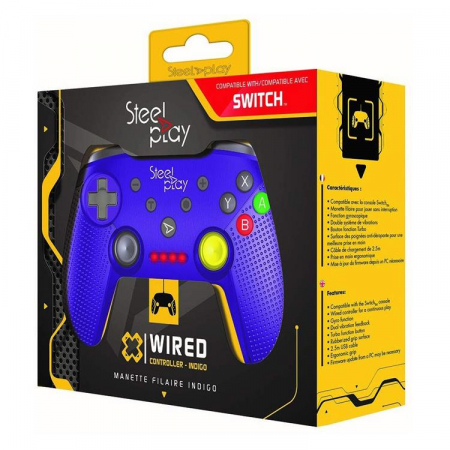 Controller Steelplay Wired Gcube Purple Nintendo Switch0