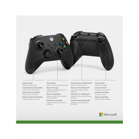 Controller Xbox One, X series, PC, Wireless, Negru Carbon2