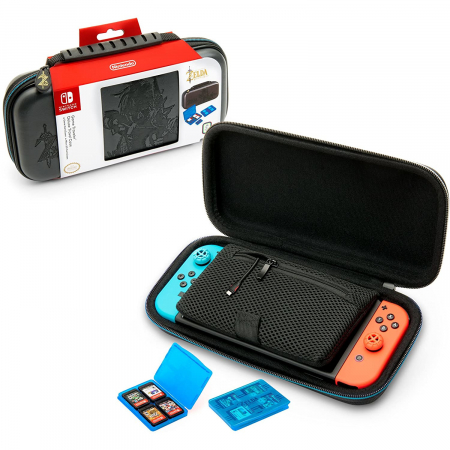 Husa Deluxe Travel Case Zelda Grey pentru Nintendo Switch3