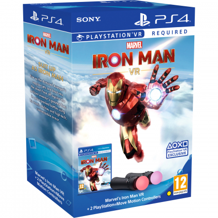 Joc IRON MAN VR pentru PlayStation 4 + PlayStation Move Twin Pack Bundle0