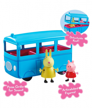 Set figurine Peppa Pig - School bus with Sound4