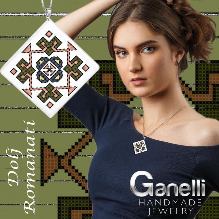 PR07-model 1 Pandantiv Ganelli ceramica motive românești Oltenia-Dolj-Romanați 2
