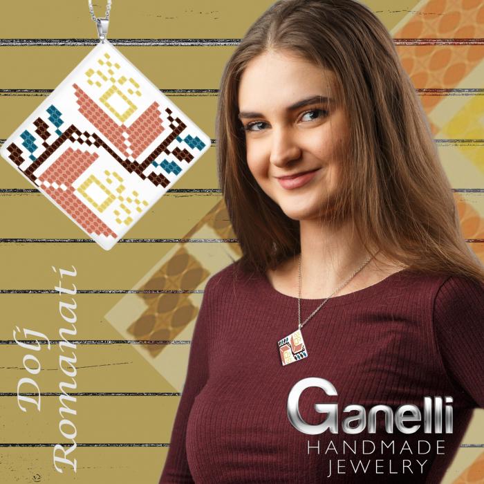 PR07-model 2 Pandantiv Ganelli ceramica motive românești Oltenia-Dolj-Romanați 2
