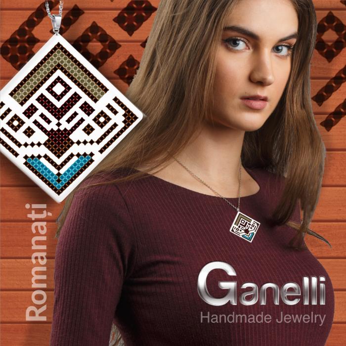 PR07-model 5 Pandantiv Ganelli ceramica motive românești Oltenia-Dolj-Romanați 2