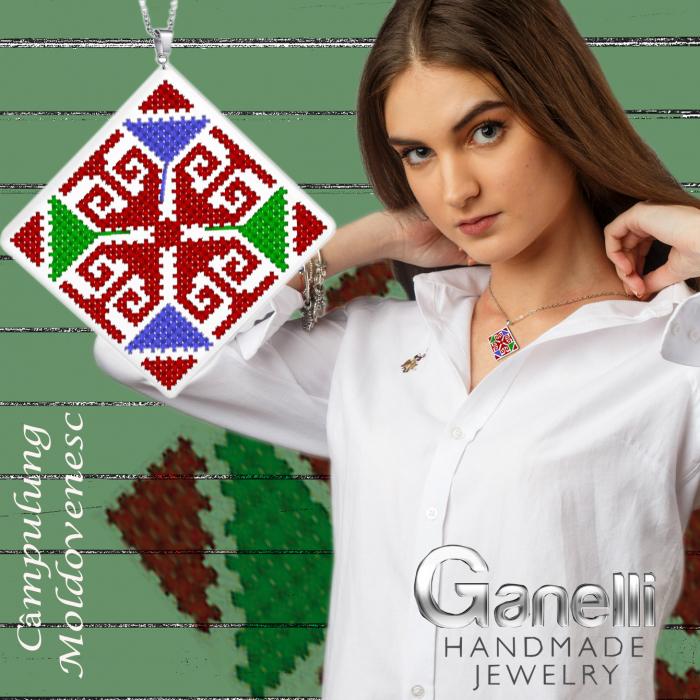PR05-Pandantiv Ganelli motive populare romanesti Moldova-Câmpulung Moldovenesc [2]