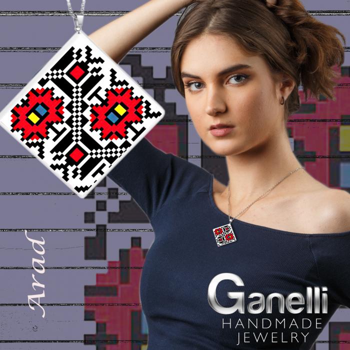 PR09(C) model 1-Pandantiv Ganelli motive populare romanesti din Transilvania-Arad 2
