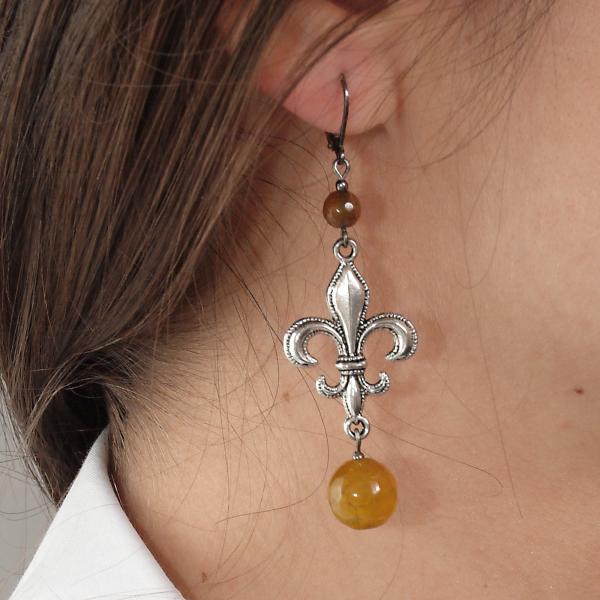 0183(E) Set bijuterii GANELLI- colier lung, bratara, cercei din pietre semipretioase Piatra Dragonului 4