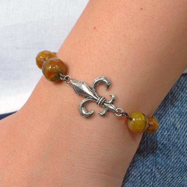 0183(E) Set bijuterii GANELLI- colier lung, bratara, cercei din pietre semipretioase Piatra Dragonului 2