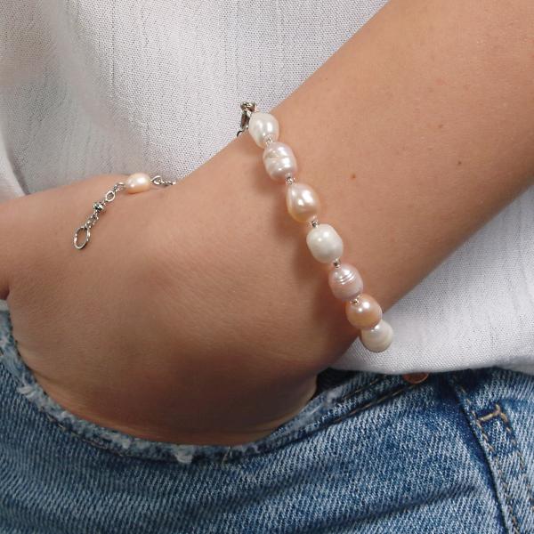 0123(C) Set bijuterii GANELLI Perle naturale de cultura -colier, bratara, cercei 2